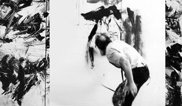 emilio vedova painting in studio